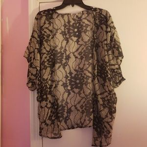 Sheer floral cardigan Large